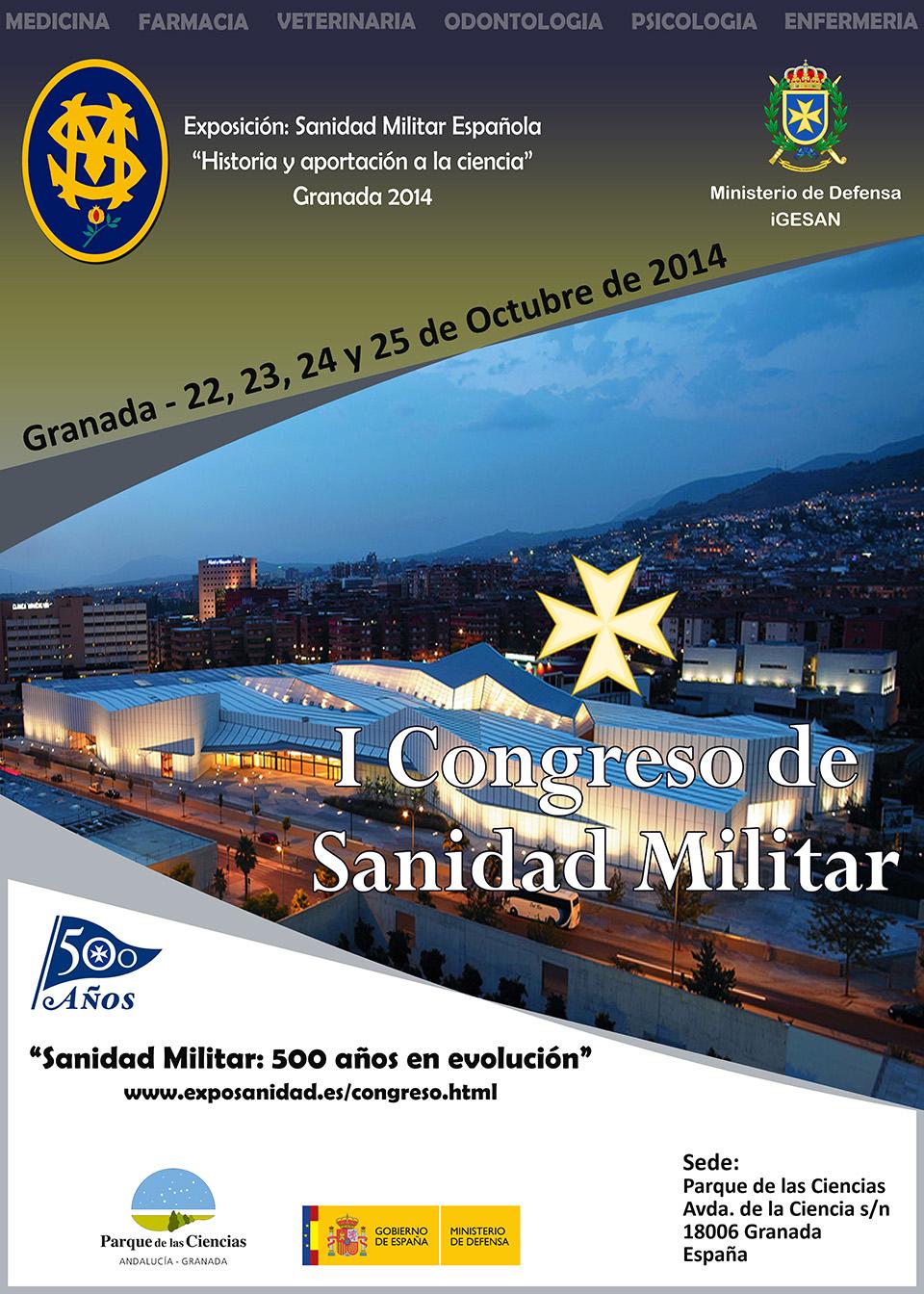 I Congreso de sanidad militar - Granada 2014
